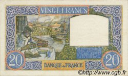20 Francs SCIENCE ET TRAVAIL FRANCE  1940 F.12.02 TTB