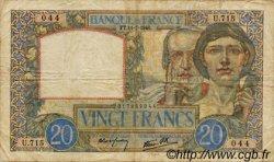 20 Francs SCIENCE ET TRAVAIL FRANCE  1940 F.12.04 TB