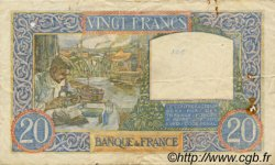 20 Francs SCIENCE ET TRAVAIL FRANCE  1940 F.12.09 TB