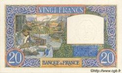 20 Francs SCIENCE ET TRAVAIL FRANCE  1941 F.12.14 SUP+