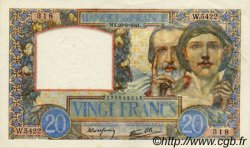 20 Francs SCIENCE ET TRAVAIL FRANCE  1941 F.12.17 SPL