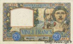 20 Francs SCIENCE ET TRAVAIL FRANCE  1941 F.12.18 SUP+ à SPL