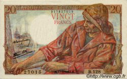 20 Francs PÊCHEUR FRANCE  1942 F.13 SUP