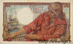 20 Francs PÊCHEUR FRANCE  1942 F.13.03 pr.SUP