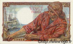 20 Francs PÊCHEUR FRANCE  1942 F.13.03 SUP+