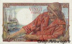 20 Francs PÊCHEUR FRANCE  1942 F.13.04 SUP à SPL