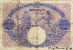 50 Francs BLEU ET ROSE FRANCE  1906 F.14.18 B+