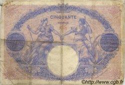 50 Francs BLEU ET ROSE FRANCE  1910 F.14.23 pr.TB