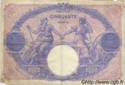 50 Francs BLEU ET ROSE FRANCE  1911 F.14.24 pr.TB