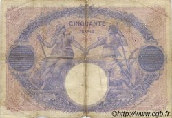 50 Francs BLEU ET ROSE FRANCE  1912 F.14.25 pr.TB