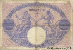 50 Francs BLEU ET ROSE FRANCE  1912 F.14.25 TB