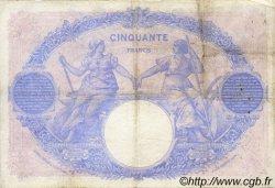 50 Francs BLEU ET ROSE FRANCE  1912 F.14.25 B