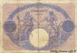 50 Francs BLEU ET ROSE FRANCE  1913 F.14.26 TB à TTB