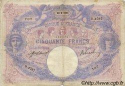50 Francs BLEU ET ROSE FRANCE  1913 F.14.26 TB+