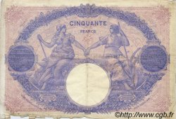 50 Francs BLEU ET ROSE FRANCE  1914 F.14.27 pr.TB