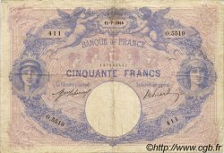 50 Francs BLEU ET ROSE FRANCE  1914 F.14.27 TB