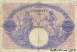 50 Francs BLEU ET ROSE FRANCE  1914 F.14.27 B+
