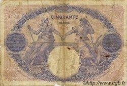 50 Francs BLEU ET ROSE FRANCE  1917 F.14.30 B+