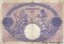 50 Francs BLEU ET ROSE FRANCE  1918 F.14.31 TB