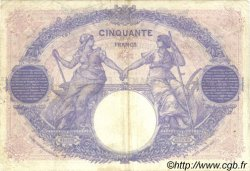 50 Francs BLEU ET ROSE FRANCE  1921 F.14.34 TB+