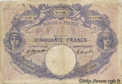 50 Francs BLEU ET ROSE FRANCE  1925 F.14.38 B