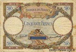 50 Francs LUC OLIVIER MERSON FRANCE  1927 F.15.01