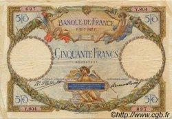 50 Francs LUC OLIVIER MERSON FRANCE  1927 F.15.01 TB+