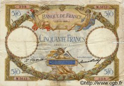 50 Francs LUC OLIVIER MERSON FRANCE  1929 F.15.03 TB