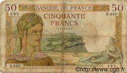 50 Francs CÉRÈS FRANCE  1935 F.17.04 B