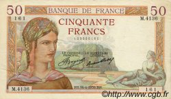 50 Francs CÉRÈS FRANCE  1936 F.17.24 TTB+