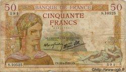 50 Francs CÉRÈS modifié FRANCE  1937 F.18 B