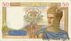 50 Francs CÉRÈS modifié FRANCE  1938 F.18.07 TTB+