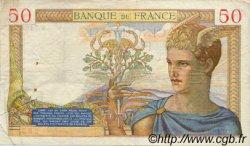 50 Francs CÉRÈS modifié FRANCE  1938 F.18.07 pr.TTB