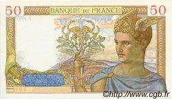 50 Francs CÉRÈS modifié FRANCE  1938 F.18.15 pr.SPL