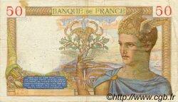 50 Francs CÉRÈS modifié FRANCE  1938 F.18.17 TB+