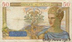50 Francs CÉRÈS modifié FRANCE  1939 F.18.24 pr.TTB