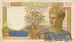 50 Francs CÉRÈS modifié FRANCE  1939 F.18.27 TB