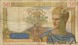 50 Francs CÉRÈS modifié FRANCE  1939 F.18.35 B
