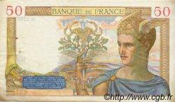 50 Francs CÉRÈS modifié FRANCE  1940 F.18.39 TTB+