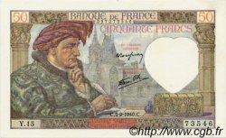 50 Francs JACQUES CŒUR FRANCE  1940 F.19.02 SUP à SPL