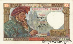 50 Francs JACQUES CŒUR FRANCE  1940 F.19.03 SUP à SPL