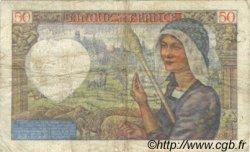 50 Francs JACQUES CŒUR FRANCE  1940 F.19.04 TB