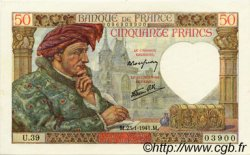 50 Francs JACQUES CŒUR FRANCE  1941 F.19.05 pr.NEUF