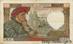 50 Francs JACQUES CŒUR FRANCE  1941 F.19.06 TB