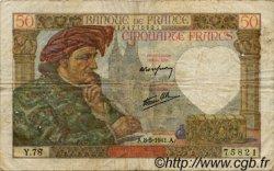 50 Francs JACQUES CŒUR FRANCE  1941 F.19.10 pr.TB