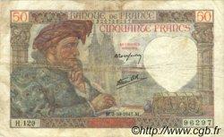 50 Francs JACQUES CŒUR FRANCE  1941 F.19.15 TB