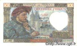 50 Francs JACQUES CŒUR FRANCE  1942 F.19.20 pr.NEUF