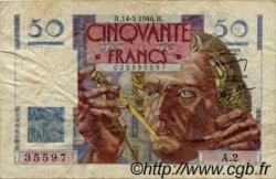 50 Francs LE VERRIER FRANCE  1946 F.20.01 TB+
