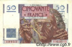 50 Francs LE VERRIER FRANCE  1946 F.20.03 SUP+