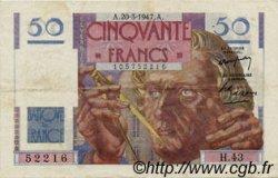 50 Francs LE VERRIER FRANCE  1947 F.20.07 TTB+
